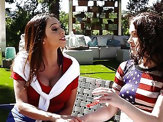 Hot Backyard Soiree Is Revved Into A Wild Woo Railing Workout With Ariella Ferrera