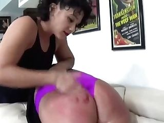 Big Woman Spanked By Lil' Lady