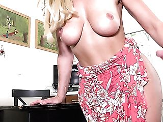 Hot And Wild Buxom Blonde Cougar Charlie Daniels Cannot Get Enough From Rear End