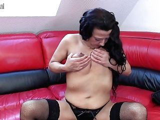 Horny Matures Bi-atch Loves Her Big Fake Penis - Maturenl