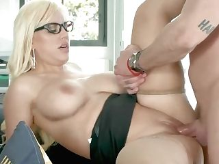 Amazing, Voluptuous Woman, Blondie Feser Could Not Hold Back From Fucking Her Colleague From Work