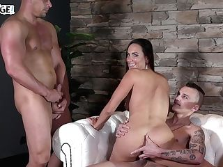 Favored Czech Mummy Mea Melone Is Fucked By Three Youthful Guys