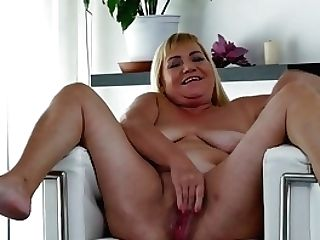 Euro Gilf Pem Fucks Her Old Vulva With A Fuck Stick