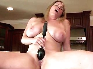 Nude Buxomy Chef Maggie Green Cums In Kitchen!