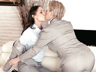 Matures Lezzy Dee Williams And Youthfull Brown-haired Aidra Fox Eat Each Others Cunts Sixty Nine Style