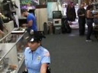 """xxx Pawn - Big Booty Brazilian Police Woman Desperate For Cash Money"""